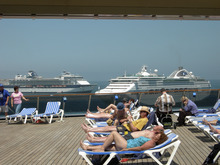Tom Wharton  |  The Salt Lake Tribune  Relaxing on the deck of a cruise ship can be an enjoyable spring break activity.