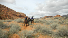 Tom Wharton  |  The Salt Lake Tribune  Horseback riders enjoy Snow Canyon State Park near St. George, one of the more popular spring break outdoor areas.