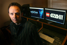 Leah Hogsten     The Salt Lake Tribune Chance Thomas, pictured in his mixing studio Wednesday, March 16, 2011,  is a composer of video game music who has made the music for the