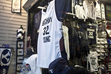 Chris Detrick | The Salt Lake Tribune  BYU basketball merchandise for sale at Fanzz in the Provo Towne Centre.