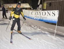 Paul Fraughton  |  The Salt Lake Tribune   David Doty skis as part of