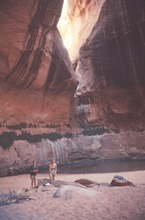 The Music Temple, an alcove known for its acoustics, was inundated by the waters of Lake Powell. Credit: Special Collections, J. Willard Marriott Library, University of Utah.