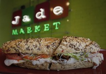 Rick Egan      The Salt Lake Tribune  The turkey avocado bacon sandwich is the most popular item on the menu at Rosie's Deli, which is inside the Jade Market on 200 South in Salt Lake City.