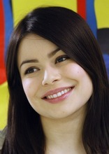 Rick Egan   |  The Salt Lake Tribune  Miranda Cosgrove smiles for a photo at Crescent Elementary School in Sandy on Wednesday. Cosgrove, star of  TV show