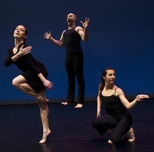 Chris Detrick   The Salt Lake Tribune  Sarah Donohue, Nathan Shaw and Rosy Goodman dance during a rehearsal of Repertory Dance Theatre's