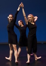 Chris Detrick   The Salt Lake Tribune  Rosy Goodman, Colleen Hoelscher and Chara Huckins dance during a rehearsal of Repertory Dance Theatre's