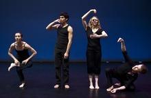 Chris Detrick   The Salt Lake Tribune  Sarah Donohue, Chris Peddecord, Chara Huckins and Aaron Wood dance during a rehearsal of Repertory Dance Theatre's