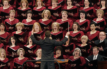 Scott Sommerdorf  |  The Salt Lake Tribune The Mormon Tabernacle Choir sings at the beginning of the 181st Annual LDS General Conference, Saturday, April 2nd, 2011.