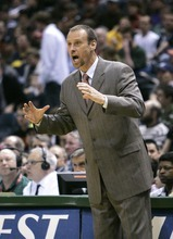 Larry Krystkowiak agreed to a five-year contract to coach Utah's basketball team Sunday; he will be formally introduced Monday. (AP Photo/Morry Gash, File)