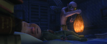 A scene from the Brigham Young University produced animated short,