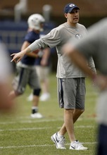 Trent Nelson  |  The Salt Lake Tribune BYU offensive coordinator Brandon Doman will call plays from the sideline.