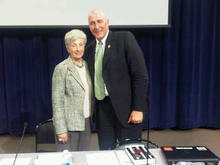 Utah Attorney General Mark Shurtleff, pictured here with Doris Meissner, director of the U.S. Immigration Policy Program, has had a second face-to-face meeting with officials at the Department of Justice in an attempt to head off a federal lawsuit against the state's new immigration laws. Courtesy of Attorney General's office