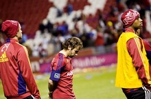 Djamila Grossman  |  The Salt Lake Tribune  Real Salt Lake's Ned Grabavoy (20) looks to the ground after RSL lost against Monterrey in the CONCACAF Champions League final in Sandy, Utah, on Wednesday, April 27, 2011.