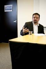 Trent Nelson  |  The Salt Lake Tribune Juan Manuel Ruiz of the Latin American Chamber of Commerce alks about a new immigration law in Utah. Plaintiffs call it