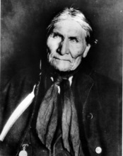 FILE - This undated file photo shows the Chiricahua Apache Geronimo, late in his life. The leader of the Fort Sill Apache Tribe is looking for a formal apology from President Barack Obama for the government's use of the code name