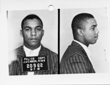 This 1961 file photo provided by the Mississippi Department of Archives and History shows the booking photo of Reginald Green taken after his arrest in Jackson Miss. in 1962 as part of the original Freedom Ride.   Forty college students  will join a handful of the original Freedom Riders on a 10-day journey from Washington, D.C., to New Orleans. Along the way they will stop in a number of cities, including those where the riders were harassed, physically attacked and arrested.   (AP Photo/Mississippi Department of Archives and History, File)