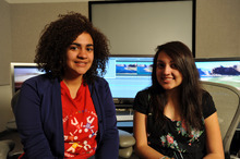 Courtesy of KUED/Spy Hop Productions Student filmmakers Candida Duran, left, and Adriana Martinez took part in the making of