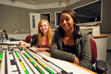 Courtesy of KUED/Spy Hop Productions Student filmmakers Sam Highsmith, left, and Gabby Huggins took part in the making of