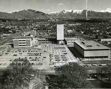This is the old justice complex where the Salt Lake police department and courts were located. This is now the site of the main Salt Lake City library. Tribune file photo