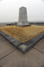 Sarah A. Miller     The Salt Lake Tribune  The remains of approximately 220 soldiers, Indian scouts and civilians are buried around the base of this memorial at Little Bighorn National Monument.
