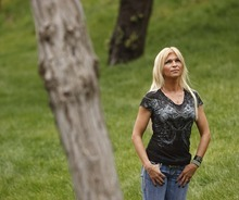 Trent Nelson  |  The Salt Lake Tribune Rebecca Woodridge has faithfully visited her former stepfather, Brian David Mitchell, twice a week at the Salt Lake County Jail. On Thursday she confronted him about allegedly sexually assaulting her from age 7 until she was 11.