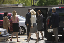 Chris Detrick  |  The Salt Lake Tribune  The Smart family enters federal court prior to Brian David Mitchell's sentencing Wednesday, May 25, 2011.