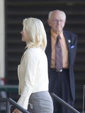 Chris Detrick  |  The Salt Lake Tribune  Elizabeth Smart enters federal court prior to Brian David Mitchell's sentencing Wednesday, May 25, 2011.