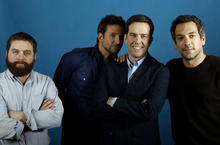 From left, actors Zach Galifianakis, Bradley Cooper, Ed Helms and director Todd Phillips, from the upcoming film