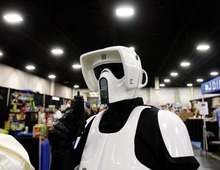 Trent Nelson  |  The Salt Lake Tribune Ryan Simmons and other members of the Alpine Garrison volunteer their time dressing up in Star Wars costumes to entertain children and raise money for charities.