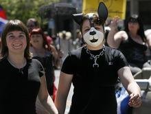 Scott Sommerdorf     The Salt Lake Tribune Pride Parade as it heads down 200 South, Saturday, June 5, 2011.