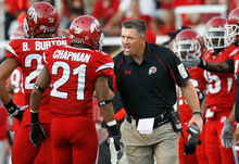 File photo  |  The Salt Lake Tribune Coach Kyle Whittingham and the Utes will play the Colorado Buffaloes at the end of the regular season, not BYU.