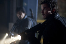 Peter Shinkoda, left, and Noah Wyle stars in the new TNT series