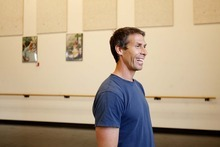 Trent Nelson  |  The Salt Lake Tribune Stephen Brown rehearses at the Rose Wagner Performing Arts Center for his namesake company, SBDance.