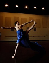 Trent Nelson  |  The Salt Lake Tribune Stevan Novakovich rehearses at the Rose Wagner Performing Arts Center for an SBDance performance.