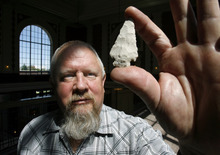 Steve Griffin  |  The Salt Lake Tribune Utah state archaeologist Kevin Jones was laid off from the Utah Department of Community and Culture on Tuesday. Officials say the measures were budget-driven, but skeptics suspect it is related to opposition of a proposed UTA station.