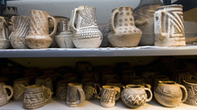Al Hartmann  |  Tribune file photo Anasazi pots stored at Edge of the Cedars State Park Museum near Blanding.