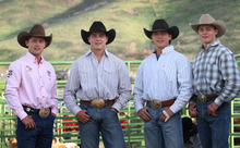 Rick Egan   |  The Salt Lake Tribune Left to Right, Cody, Jake, Jesse, and  Alex Wright, at the Herriman Rodeo, Saturday, June 4, 2011.  The four Utah brothers, including a two-time champion, who are among the top 25 saddle bronc riders in the world.