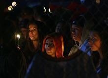 Steve Griffin  |  The Salt Lake Tribune  Wasatch High School students, family and friends gather at the Heber school for a candle light vigil for 17-year-old Kaleb Franco who drowned in Deer Creek Reservoir earlier in the day in Heber Wednesday, June 29, 2011.