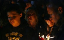 Steve Griffin  |  The Salt Lake Tribune  Wasatch High School students, family and friends gather at the Heber, Utah school for a candle light vigil for 17-year-old Kaleb Franco who drowned in Deer Creek Reservoir earlier in the day in Heber, Utah Wednesday, June 29, 2011.