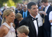 Al Hartmann  |  The Salt Lake Tribune Malone's former teammate John Stockton and wife Nada walk the steps of  Symphony Hall in Springfield, Massachusetts Friday night for  Naismith Memorial Basketball Hall of Fame cermemony in which Karl Malone was inducted.