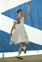 Photo by Chris Detrick | The Salt Lake Tribune  Kyra Johnson, of Orem, dances the Lilt during the Payson Scottish Festival and Highland Games on Saturday July 9, 2011. The festival celebrates Scottish heritage and traditions.