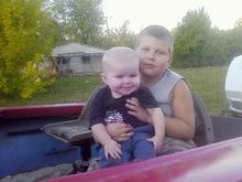 Courtesy photo David Rayborn holding his younger brother Killian.