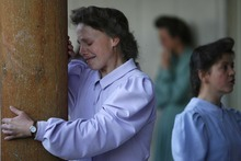 Eldorado - Marie, an FLDS woman on the YFZ Ranch, emotionally tells her story of having their children taken into state's custody Monday, April 14, 2008 on the YFZ