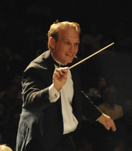 Lyceum Music Festival director Kayson Brown conducts the festival orchestra. Courtesy Photo