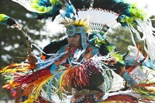 Chris Detrick | The Salt Lake Tribune  Patrick Willie, of Orem, dances the fancy feather dance during the Native American Cultural Celebration at Liberty Park Monday July 25, 2011.