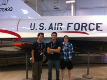 (Left to right)  Nicolle Huang, 17 from Los Angeles, CA, Dennys To, 18 from West Valley City, and Katie Whiting, 16 from Park City As part of Westminster College's Aviation Camp, students visited the Hill Aerospace Museum at Hill Air Force Base in Ogden. Huang, To and Whiting are standing in front of a U.S. Air Force  Convair F-102a airplane. Photo: Cody Berreman