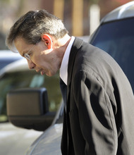 Tony Gutierrez  |  The Associated Press  Polygamous sect leader Warren Jeffs arrives at the the Tom Green County Courthouse in San Angelo, Texas, for the second day of his sexual assault trial on Friday. Jeffs is charged with two counts of sexual assault of a child at a compound south of the oil and gas town of San Angelo.