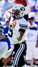 Trent Nelson  |  The Salt Lake Tribune BYU quarterback Jake Heaps.