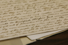 Scott Sommerdorf  |  The Salt Lake Tribune A detail of a Hofmann forgery of a letter he asserted was written by Lucy Mack Smith, the mother of LDS founder Joseph Smith Jr.