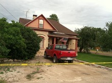 Paul Fraughton  |  The Salt Lake Tribune The house in Salina where an apparent murder-suicide took place Wednesday.
